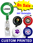 Full Color Custom Printed Badge Reels - Bulk Pricing RT-01R-FCP/Per-Piece