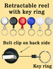 Retractable Key Holders With Key Rings (Key Chains)