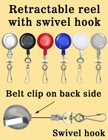 Retractable Reels With Metal Swivel Hooks RT-04/Per-Piece