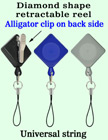 Diamond Shape Retractable Badges With Alligator Clips RT-06-QAC/Per-Piece