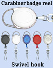 Carabiner Retractable Swivel Hooks For Small Hardware Accessories RT-CB-HK/Per-Piece