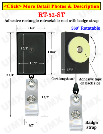 All Direction Access Retractable Display With Adhesive Backs and Snap-On Buttons