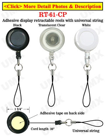 Low Cost Special Event Display Retractable Event Display Reels With Universal Strings and Adhesive Backing