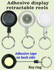 Low Cost Promotional Item Display Retractable Key Chain Reels With Metal Keychains and Adhesive Backing RT-61-O/Per-Piece
