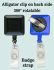 Rotatable Name Badge Reels With Badge Straps & Alligator Clips RT-09-ST/Per-Piece