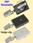 Rectangle Rotatable Retractable Nametag Holders With Nametag Clips & Belt Clips RT-51-BC/Per-Piece