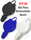 Ski Pass Retractable Reels For Sports ID Badge Holders