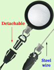 Detachable Retractable Name Badge Holders With Quick Release Fastener Strings RT-23S-CP2/Per-Piece