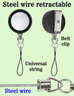 Durable Retractable Mobile Phone String Reels RT-23S-CP1/Per-Piece