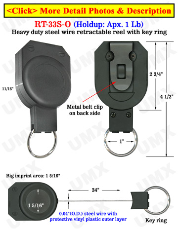 Heavy Duty Retractable Key Chains Can Hold Multiple Keys