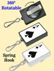 Preprinted Retractable ID Card Holders: Poker ACE Print RT-51-ACE-SK/Per-Piece
