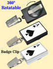 Casino Retractable Name Badge Reels: Poker ACE Print RT-51-ACE-BC/Per-Piece