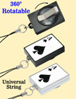 Preprinted Retractable Universal Fasteners: Poker ACE Print RT-51-ACE-CP1/Per-Piece