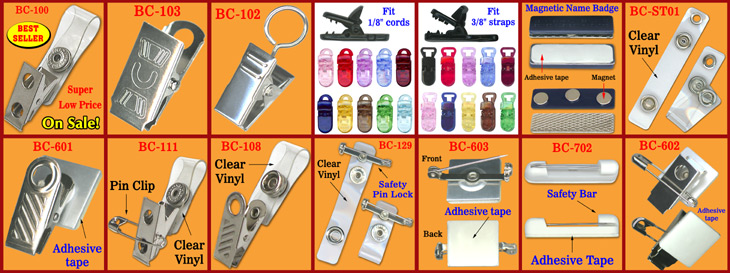 Wholesale & Retail Badge Clips: Plastic ID Card Name Badge Strap Supply